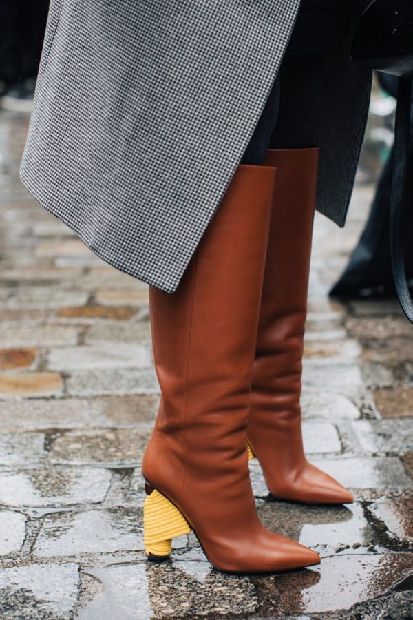 Stormy weather will never ruin your day in luxe leather boots like these.