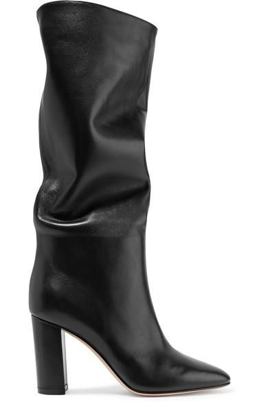 Gianvito Rossi Laura Leather Knee Boots