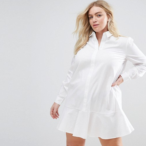 Peplum Mini Shirt Dress