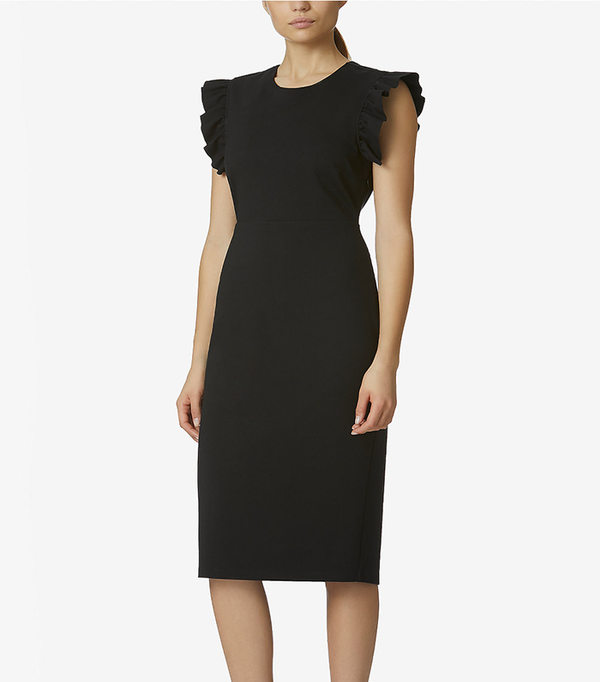 Dress with Ruffle-Sleeve Detail