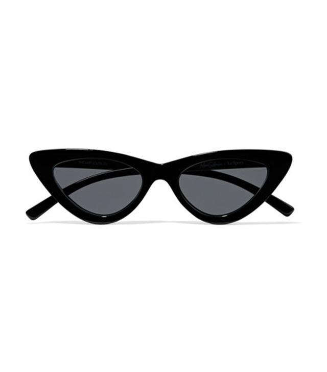 Le Specs x Adam Selman The Last Lolita Cat-Eye Acetate Sunglasses