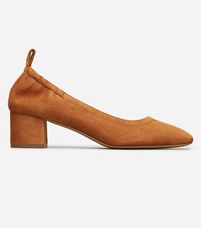 Women's Pump Heel by Everlane in Cognac Suede