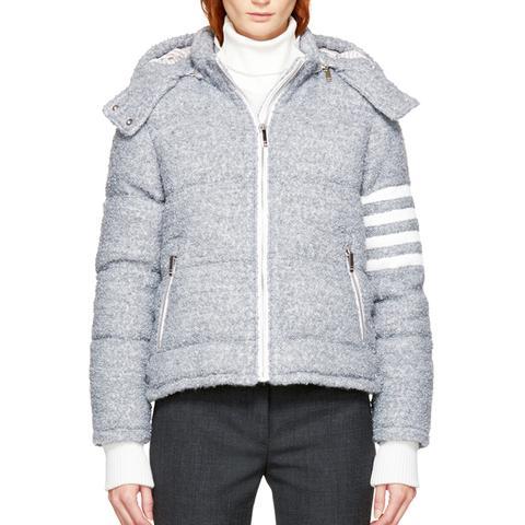 Grey Down Four Bar Ski Jacket