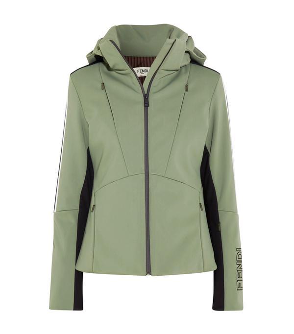 Best Ski Jackets: Fendi Hooded Printed Shell Ski Jacket