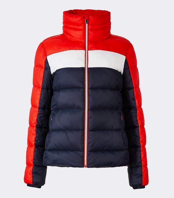 Best Ski Jackets: Marks & Spencer Colour Block Jacket with Concealed Hood