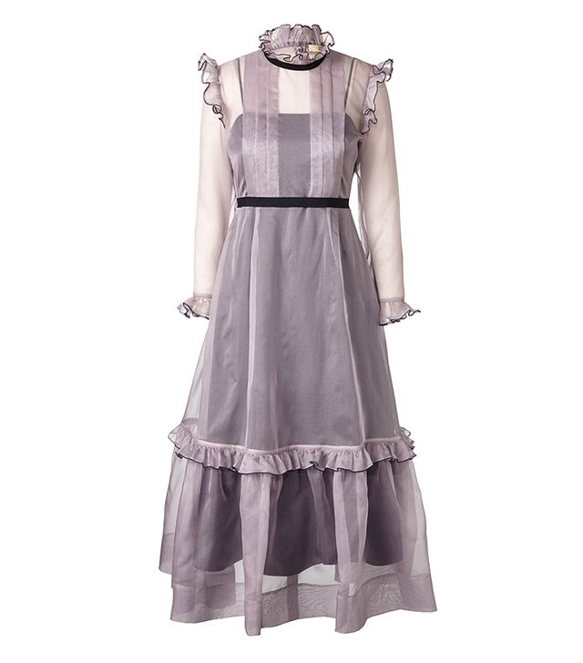 Orla Kiely Organza Camille Pleated Bodice Dress