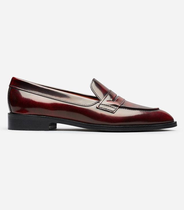 Women's Penny Loafers by Everlane in Oxblood, Size 7.5