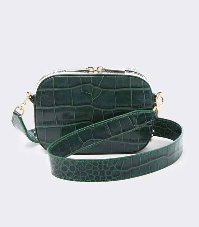 Pop & Suki Emerald Croc Camera Bag