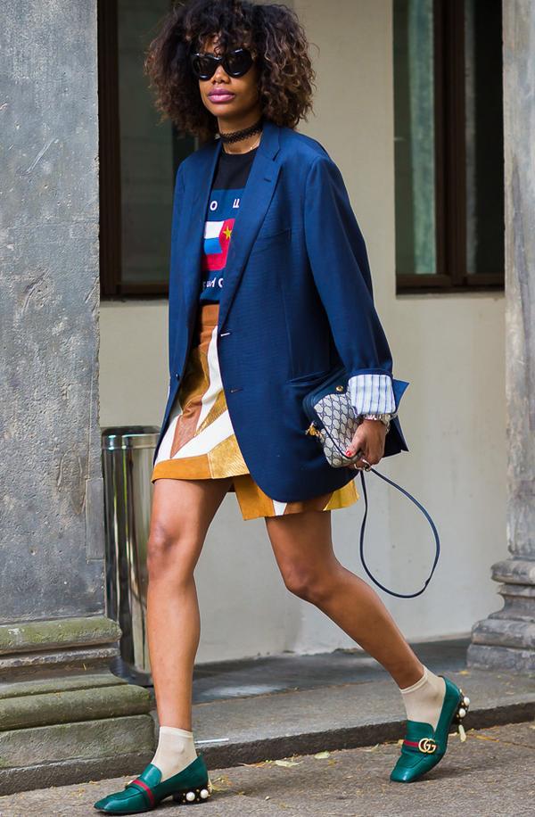 Short Skirt + Tall Socks