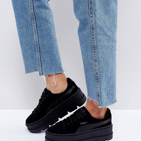 Suede Creepers in Black
