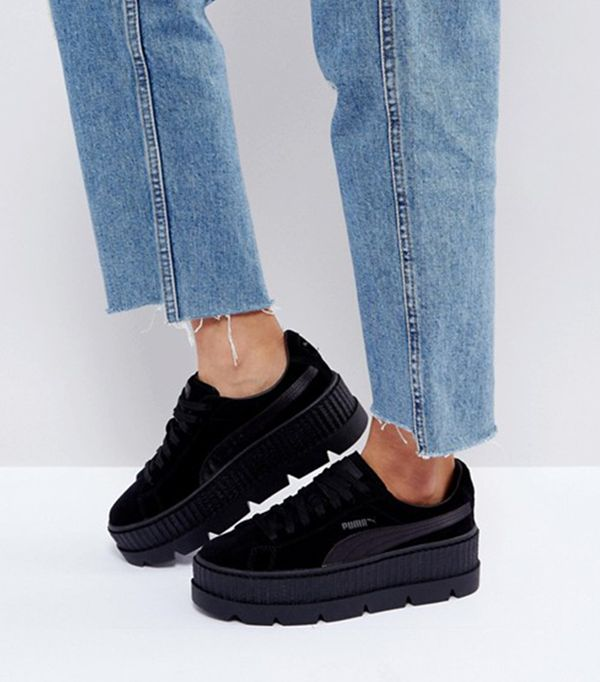 X Fenty Suede Creepers In Black