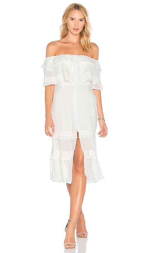 Gemini Dress in White. - size XS (also in S,M,L,XL)