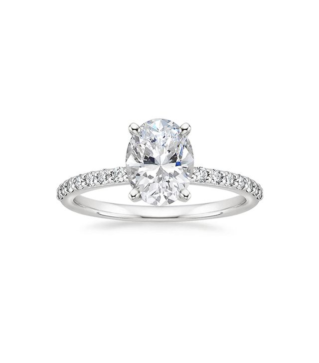 Brilliant Earth 18K White Gold Petite Shared Prong Diamond Ring