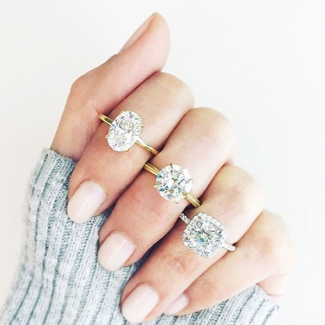 popular engagement ring trends whowhatwear
