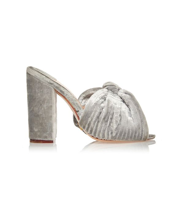 M'O Exclusive: Silver Rosario Mule