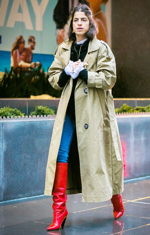 How to Wear Bright Colors in the Winter Street Style: Leandra Medine