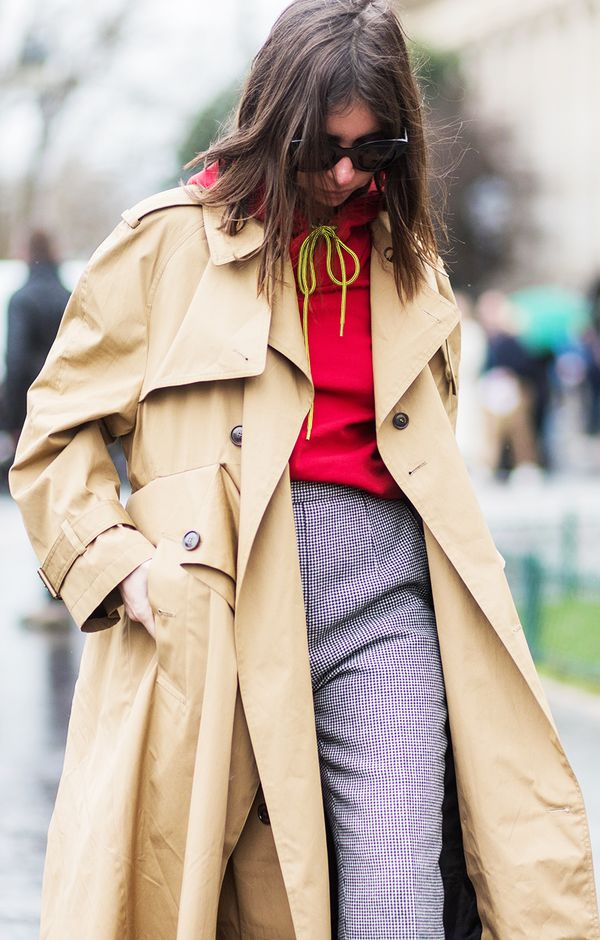 How to Wear Bright Colors in the Winter Street Style: Layer a Hoodie