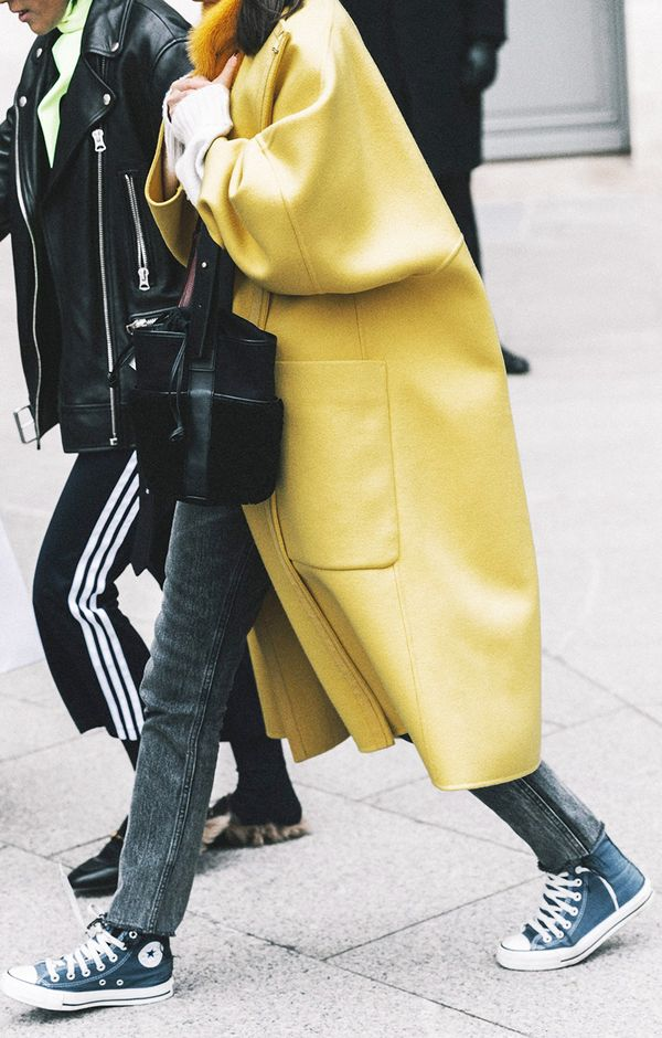 How to Wear Bright Colors in the Winter Street Style: Bold Coats