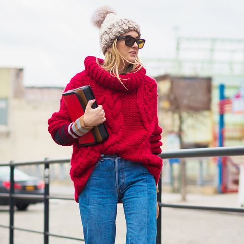 How to Wear Bright Colors in the Winter Street Style: Statement Sweaters