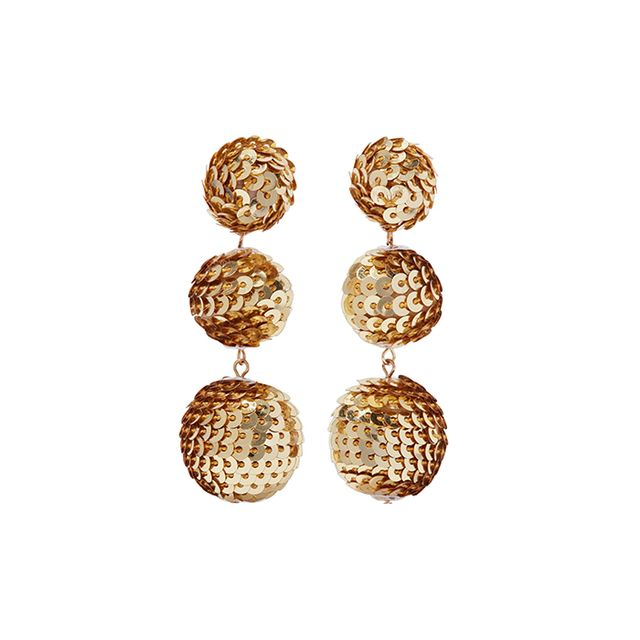 Day 2: Kenneth Jay Lane Gold-Tone Sequinned Earrings