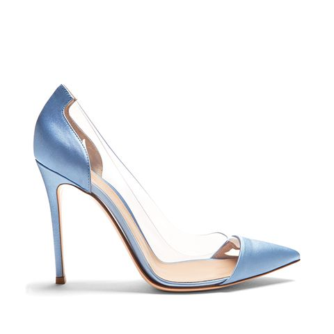 Plexi Satin Pumps