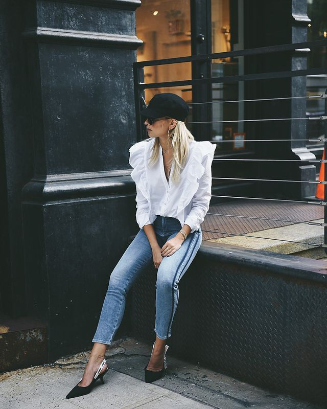 7 for All Mankind We Wore What x Bloomingdale's Edie Straight-Leg Jeans