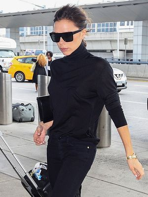 Victoria Beckham's Ankle Boots Transformed Her All-Black Airport Outfit
