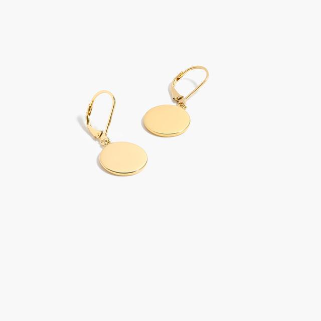 J.Crew Demi-Fine 14k Gold-Plated Disc Drop Earrings