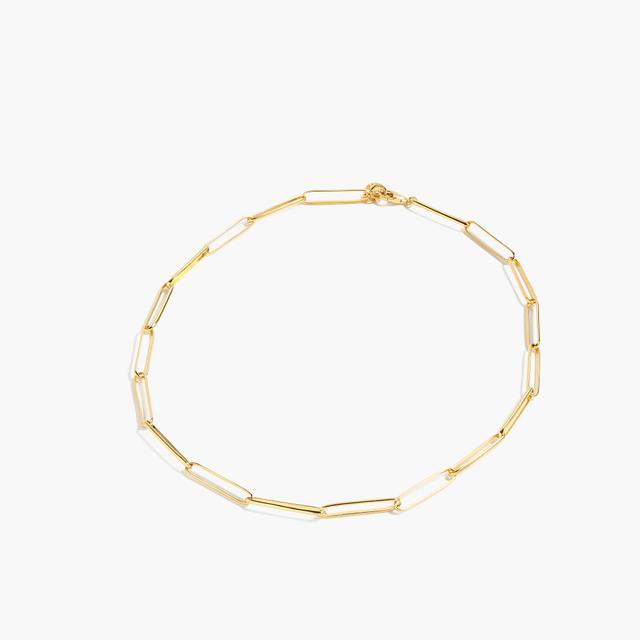 J.Crew Demi-Fine 14k Gold-Plated Short Paper Clip Necklace