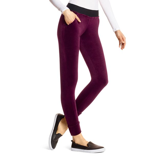 HUE Velour Track Pants