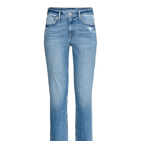 Straight High Ankle Jeans,
