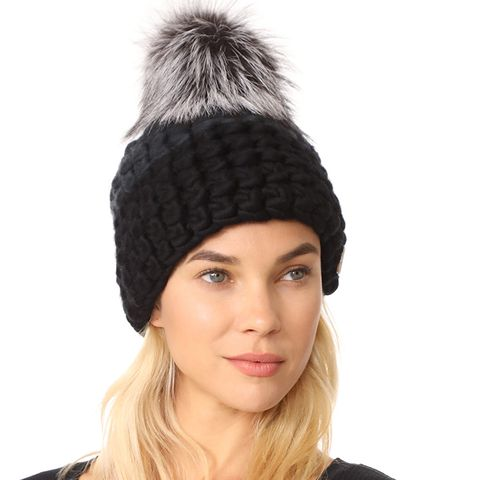 Deep Beanie Colorblock Hat