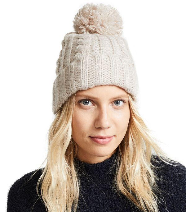 Hat Attack Soft Cable Beanie ($55)