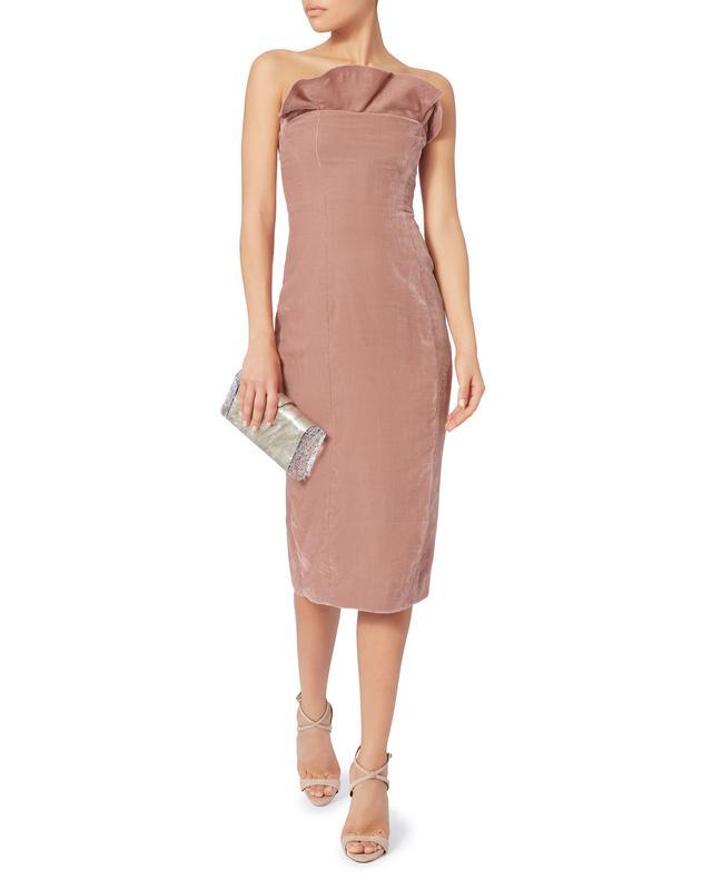 Marceau Ruffle Trim Strapless Dress
