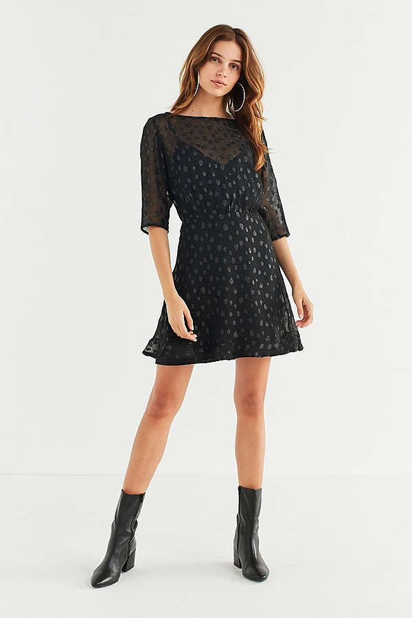 Urban Outfitters ISLA The Resistance Sheer Polka Dot Dress