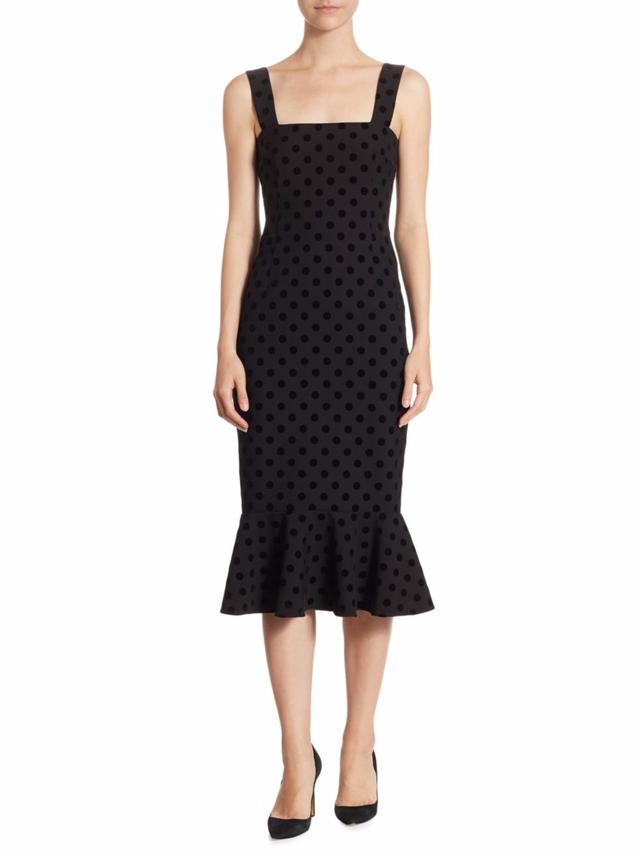 Velvet Polka Dot Dress