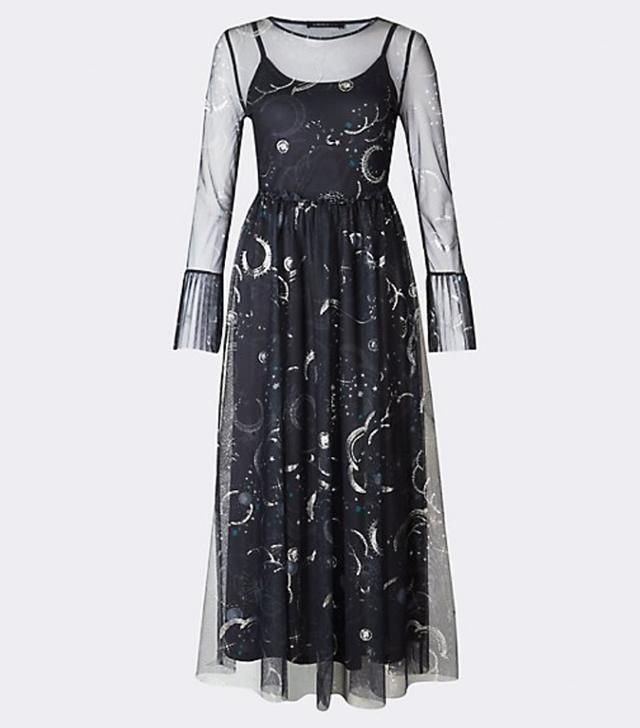 Star print dress: M&S star dress