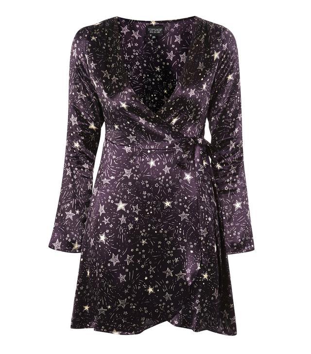 Star print dress: Topshop star dress