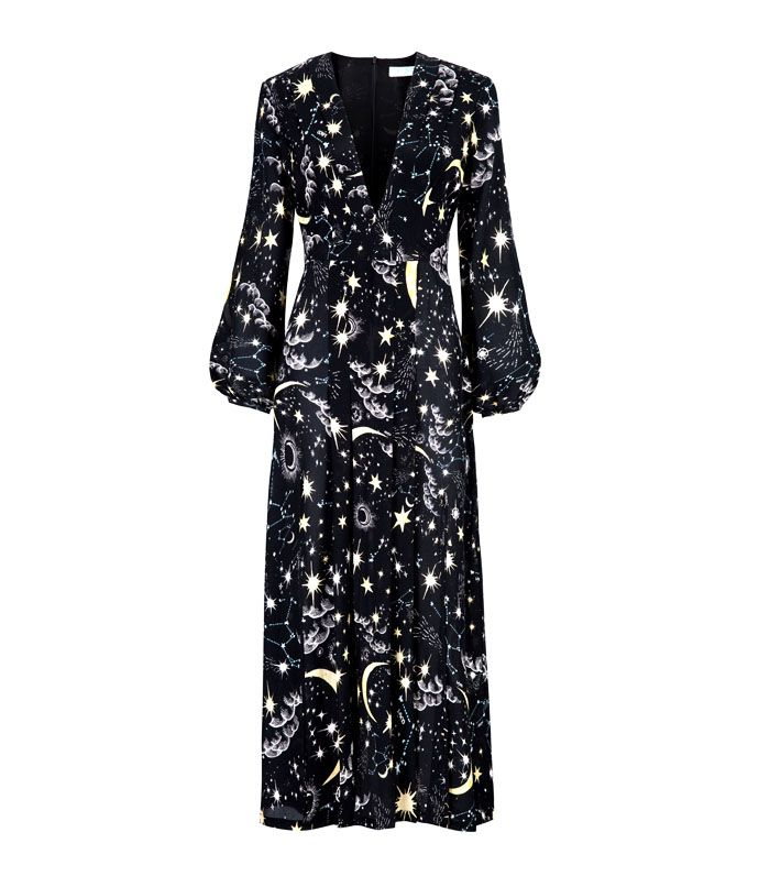 Star print dress: Rixo Moonlit Sky