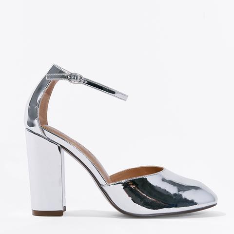 Juliette Patent Block Heel Quarter Strap Sandal Pumps