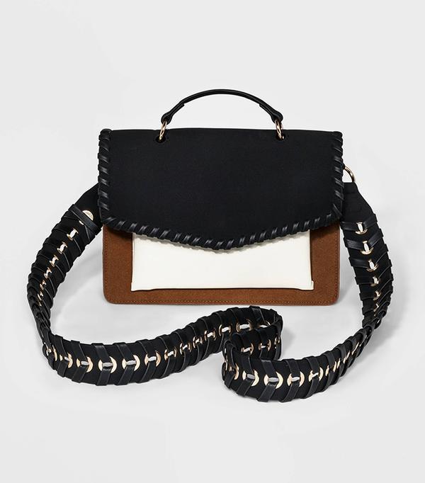Colorblock Satchel Handbag
