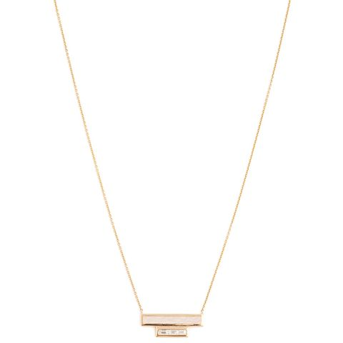 White Light Diamond, Enamel & Yellow-Gold Necklace