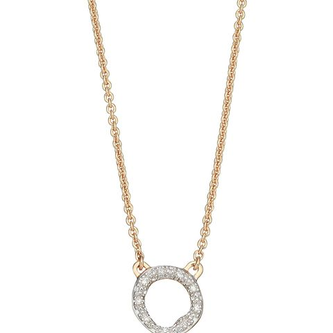 Riva Diamond Circle Pendant Necklace