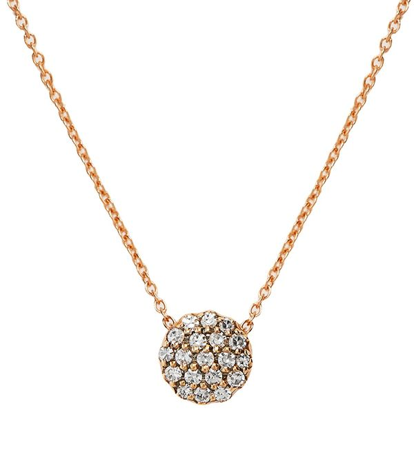 Diamond & pink-gold Beirut necklace