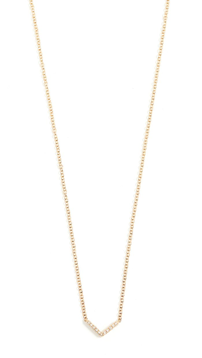 22 Simple Diamond Necklaces That Ll Never Go Out Of Style Who What Wear