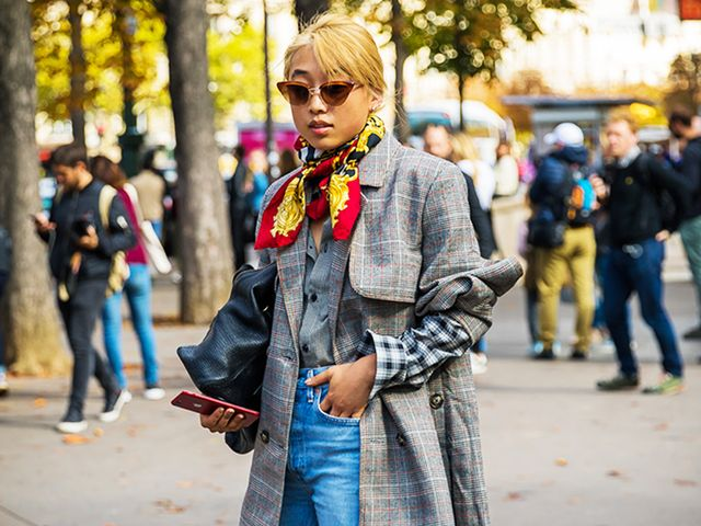 use silk scarves to finish a look
