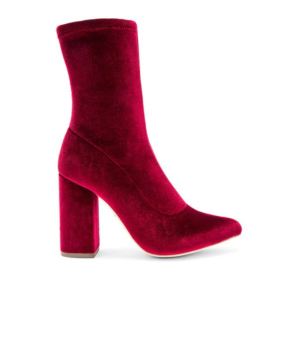 Faris Bootie in Red. - size 7.5 (also in 5.5,6,7,8,8.5)
