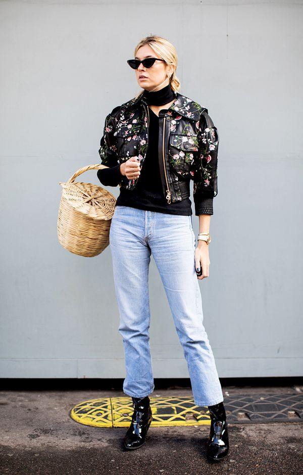 cool bomber jacket outfit