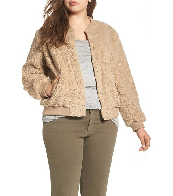 Women's Levi's Rib Knit Fleece Bomber Jacket
