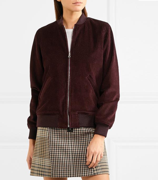 Norma Cotton-corduroy Bomber Jacket